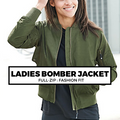 (J2) LADIES BOMBER JACKET