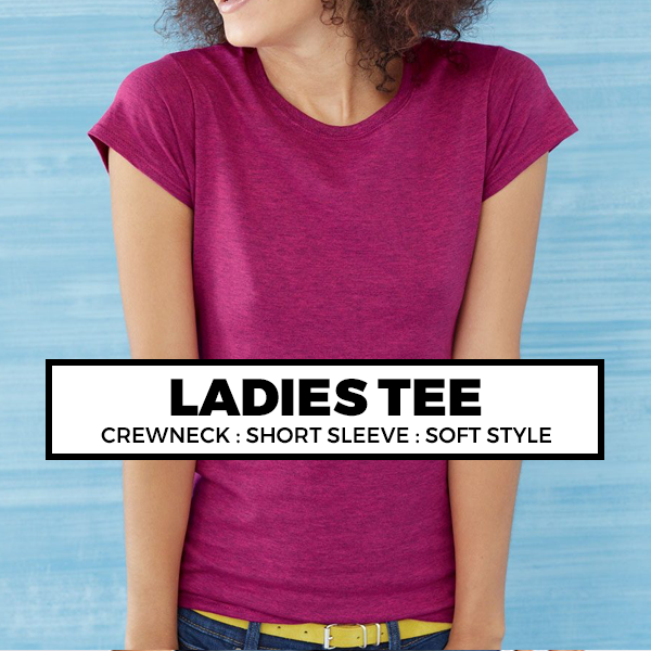 (A2) Ladies Crewneck Tee*