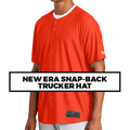 (Q5) NEW-ERA FULL BUTTON BASEBALL JERSEY