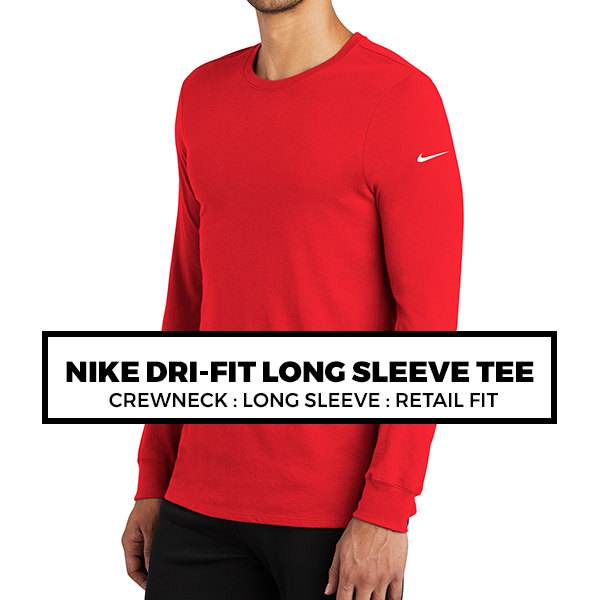 (Q3) NIKE DRI-FIT LONG SLEEVE TEE