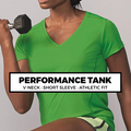 (H3) LADIES V-NECK PERFORMANCE TEE