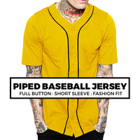 (G1) PREMIUM PIPED BASEBALL JERSEY