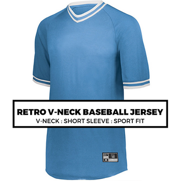 (F6) RETRO V-NECK BASEBALL JERSEY