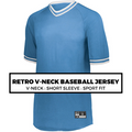 (F6) RETRO V-NECK BASEBALL JERSEY*
