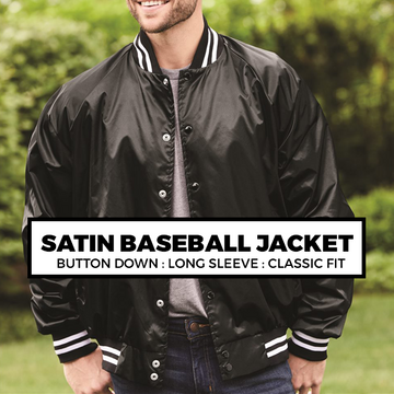 (I3) SATIN BASEBALL JACKET