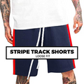 (G8) STRIPE TRACK SHORTS
