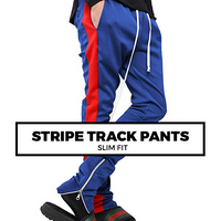 (G9) STRIPE TRACK PANTS