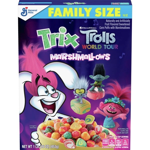 Trix Trolls World Tour With Marshmallows