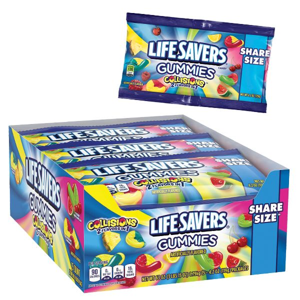 LifeSavers 2 in 1 Gummies Collision Share Size