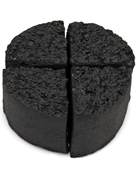 CocoUrth Organic Coconut Charcoal (96 Pieces -Quarter Circle)