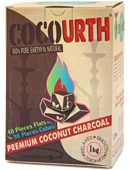 CocoUrth Organic Coconut Charcoal (84 Pieces -Split Box)