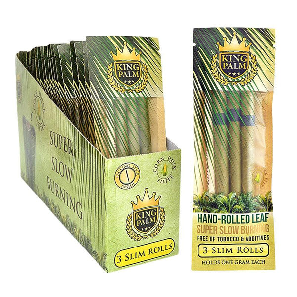 King Palm Organic 3 Slim Rolls - Pre-Rolled Wraps
