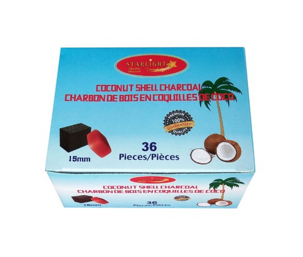 Starlight Coconut Shell Charcoal Cubes 36 pc