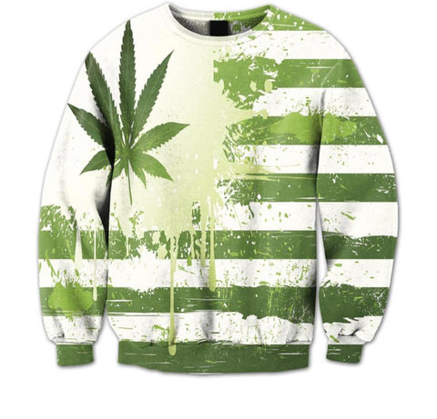Marijuana Flag Crewneck