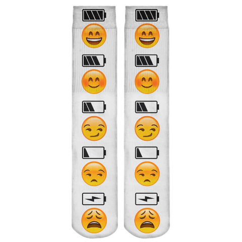 Charged Up Emojis Long Socks