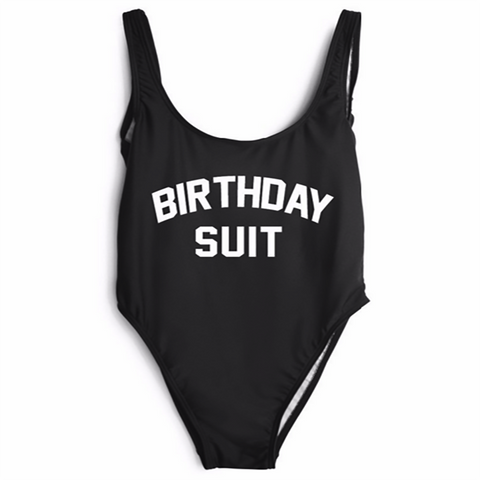 Birthday Suit High Cut One Piece