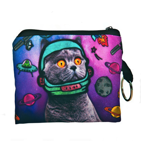 Space Cat Coin Purse