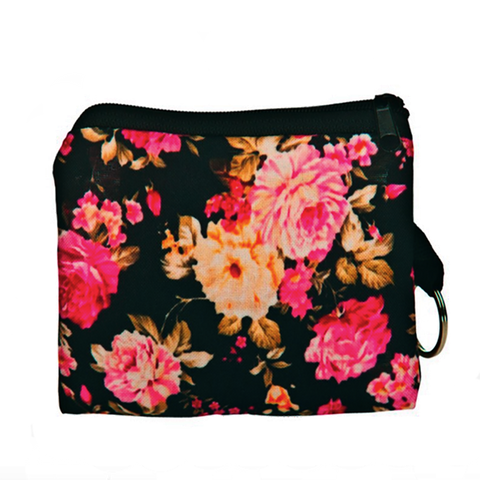 Vintage Flowers Coin Purse