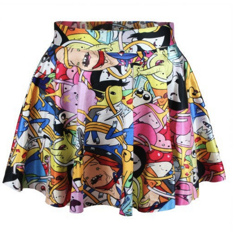 Adventure Time Characters 3D Print Skirt