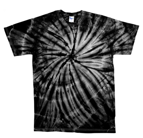 Custom Pink Mind Black Tie Dye T Shirt