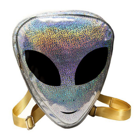 Silver Alien Backpack