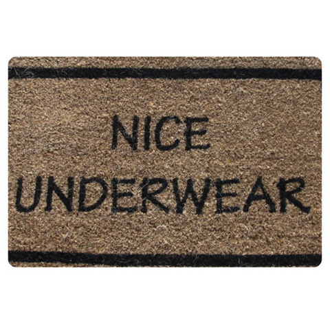 Nice Underwear Doormat Carpet