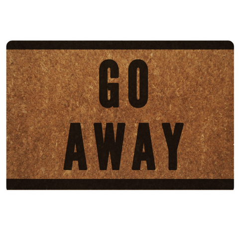 Go Away Doormat Carpet