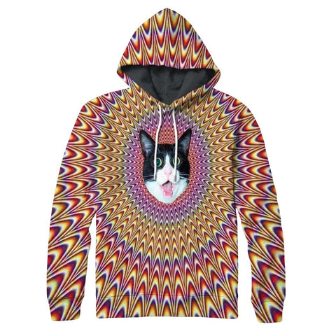Psychedelic Cat Hoodie