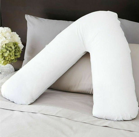 Extra Filled V Shaped Pillow Support for Pregnancy Maternity Nursing Neck & Back - 365 Online Shopping UK