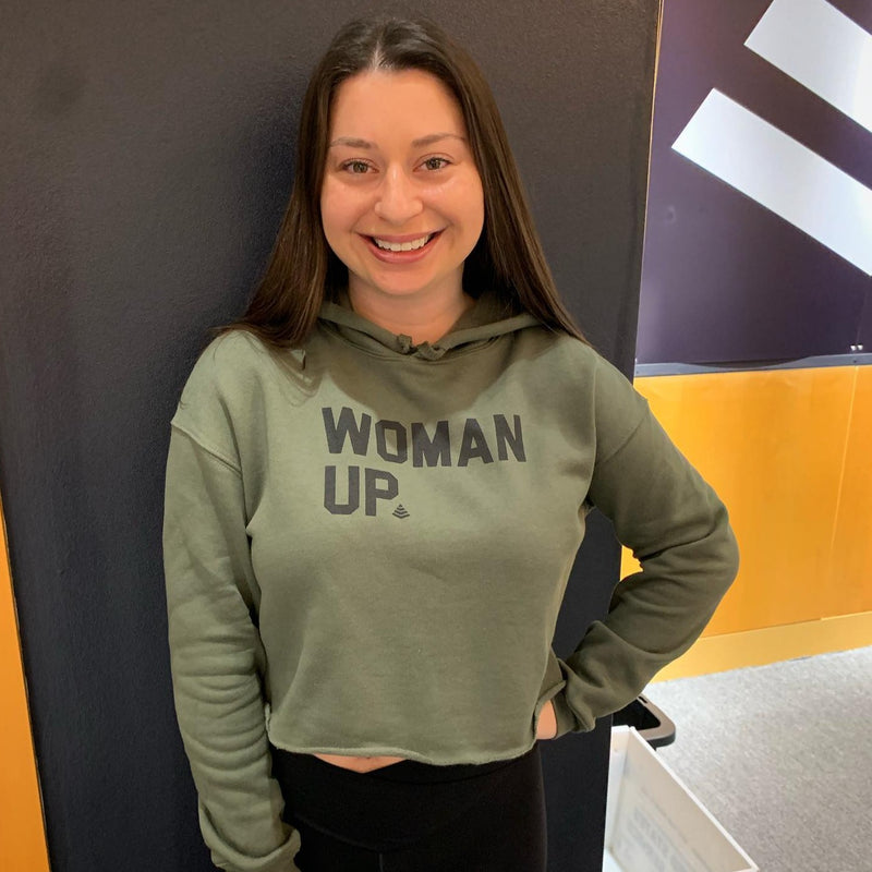 """Woman Up"" Cropped Hoodie"