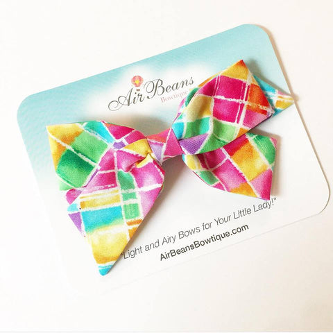 "*Clearance* Oversized Emilia Bow in ""Stained Glass"""