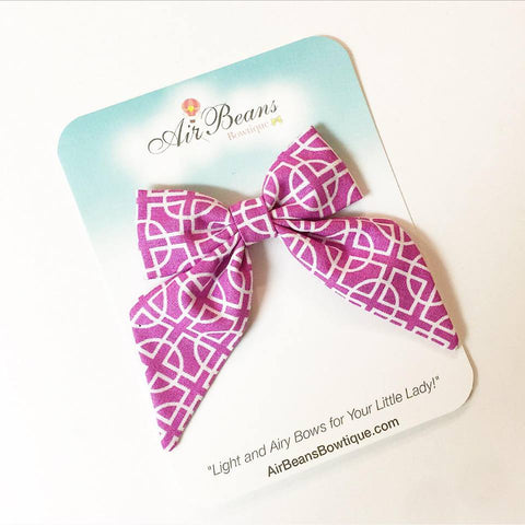 "*Clearance* Delilah Bow in ""Grape Geometric"""