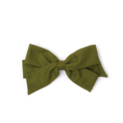 "Oversized Emilia Bow in ""Moss"""