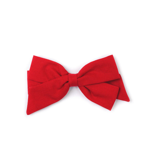 "Oversized Emilia Bow in ""Classic Red"""