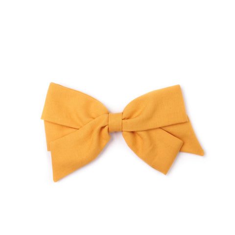 "Oversized Emilia Bow in ""Mustard"""