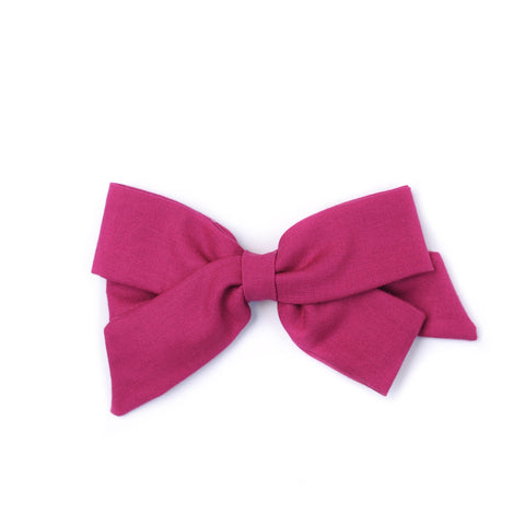 "Oversized Emilia Bow in ""Berry"""