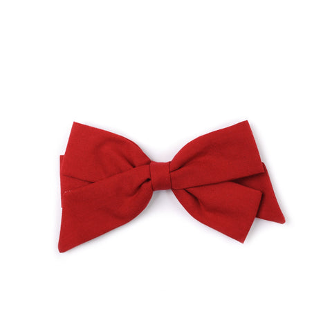 "Oversized Emilia Bow in ""Candy Apple Red"""