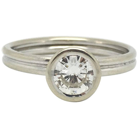 1 Carat Certified Diamond Platinum Engagement Ring