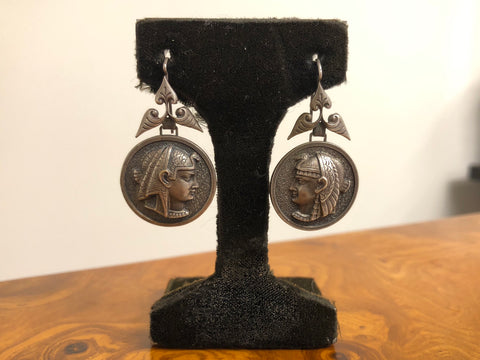 Victorian Egyptian Revival Earrings