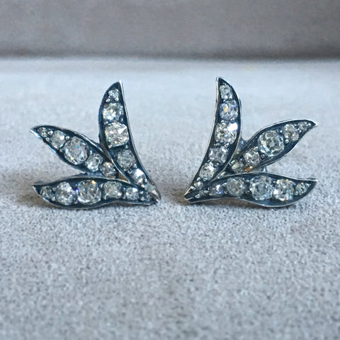Old Cut Victorian Diamond Earrings