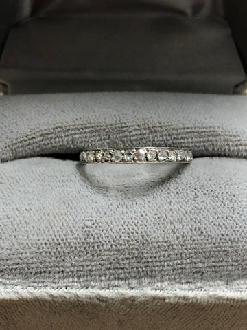 *Reserved* deposit Art Deco Platinum Rose Cut Eternity Ring