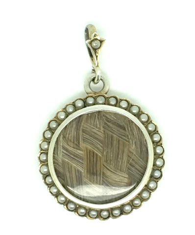 Antique Seed Pearl Silver Locket
