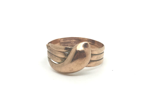 Antique Gold Snake Ring
