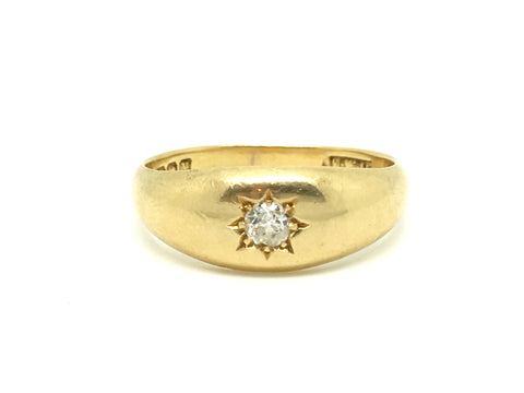 18ct Gold Gypsy Diamond Ring