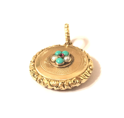 Miniature Victorian Mourning Locket