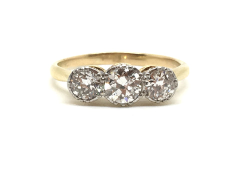 Edwardian Three Stone Diamond Ring