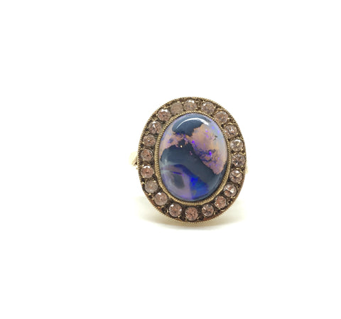 Reserved Boulder Opal Dress Ring