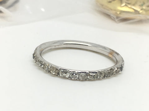 Georgian Silver Eternity Ring