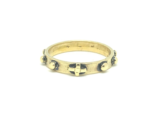 Antique 18ct Gold Rosary Ring