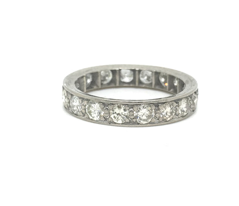 Reserved. Platinum Art Deco Diamond Eternity Ring 2.34ct